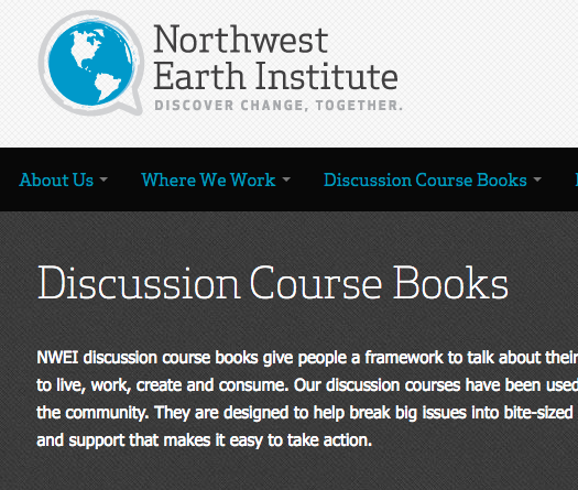 Northwest Earth Institute Discussion Course Books