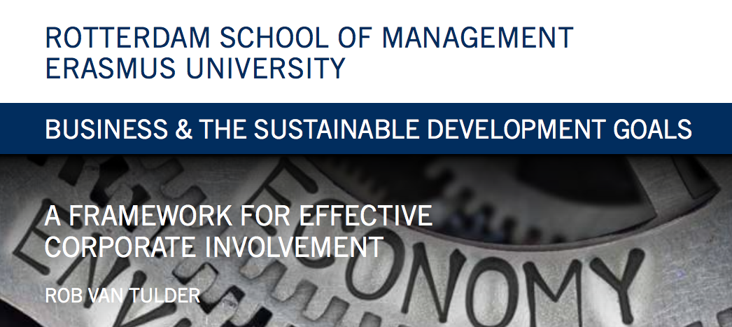 Business & The Sustainable Development Goals: A Framework for Effective Corporate Involvement