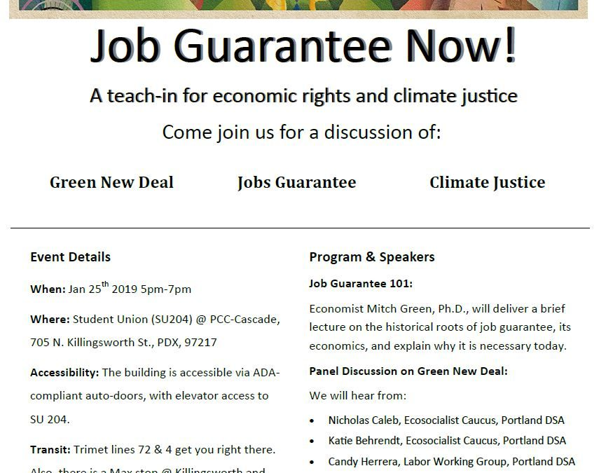 Teach-In for Economic Rights and Climate Justice