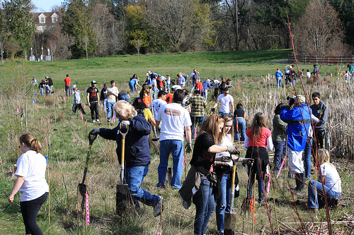 GPSEN native tree planting with Friends of Trees!