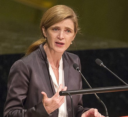 Samantha Power Former U.S. Ambassador to the United Nations
