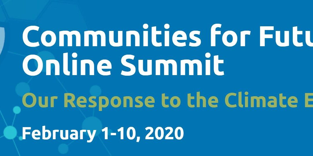 Communities for Future Online Summit