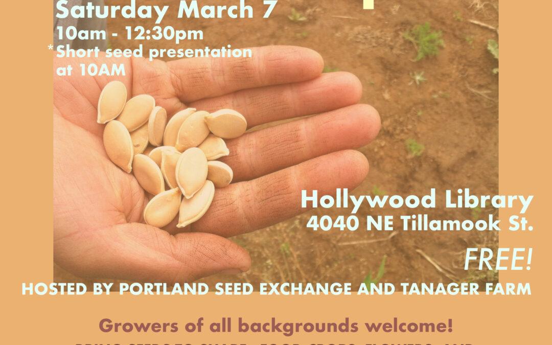 2020 Portland-Area Seed Swap