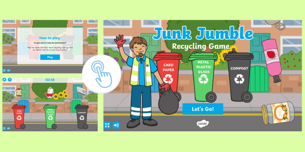 Free Junk Jumble Recycling Materials Game