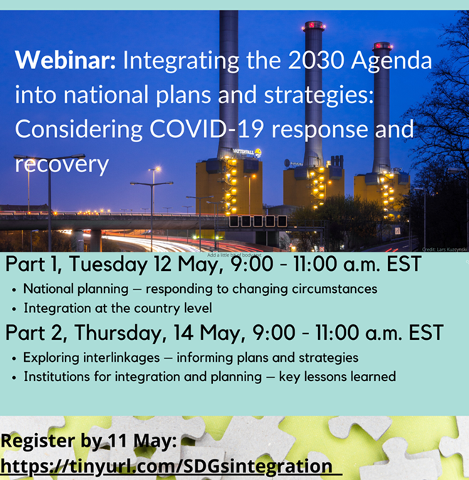 Integrating the 2030 Agenda into national plans and strategies: Considering COVID-19 response and recovery