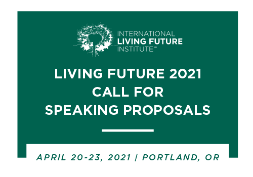 """Living Future 2021 Call for Proposals: """"Inclusion & Unity"""""""