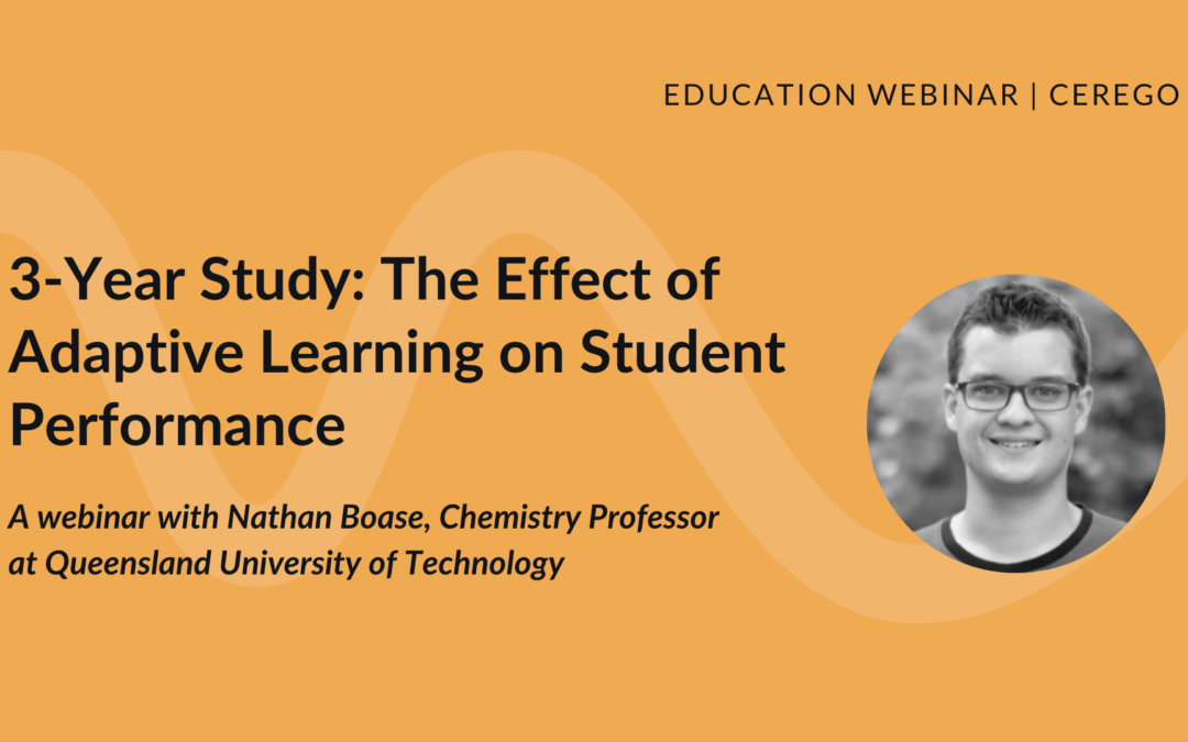 3-Year Academic Study: The Effect of Adaptive Learning on Student Performance