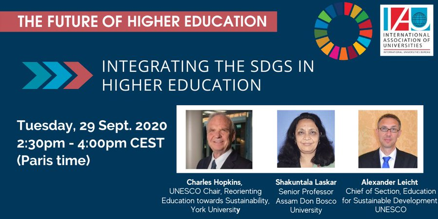 Integrating the Sustainable Development Goals (SDGs) in Higher Education