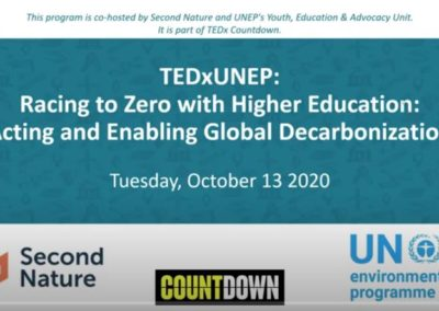 Higher Education: Acting and Enabling Global Decarbonization
