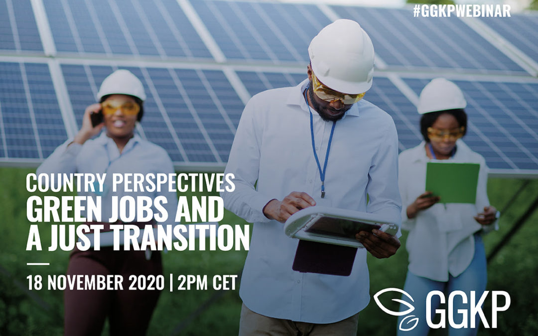 #GGKPWebinar | Green jobs and a just transition